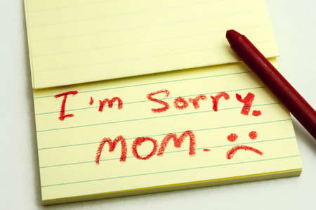 forgiven: a handwritten notes with sorry message