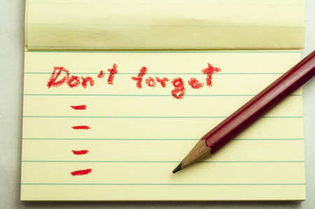 forgetful: Don,t forget note
