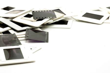 carbon neutral: Photo frame  Slide 35mm on white background