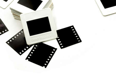 Photo frame  Slide 35mm on white background  Stock Photo - 15686947