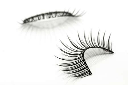 false eyelashes isolated on white 写真素材