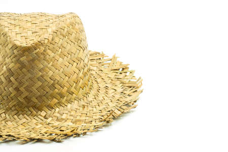 straw hat: straw hat isolated on a white background Stock Photo