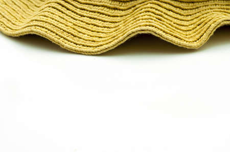 handcrafted: Detail of an handmade wicker Stock Photo