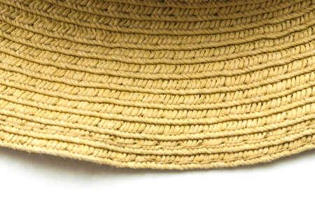 straw mat: Detail of an handmade wicker Stock Photo