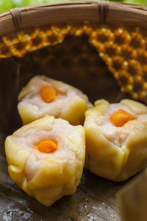 Dim sum, Chinese steamed pork and shrimp dumplings Stock Photo - 15910987