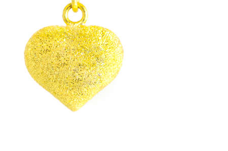 medaglione: forma di medaglione cuore decorato su sfondo bianco