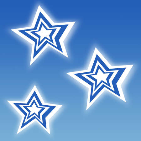 Blue stripe stars on blue sky backgound Stock Photo - 16108113