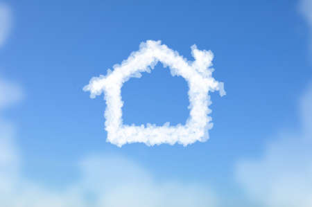Cloud shaped as House, dreaming concept Stock Photo - 16108109