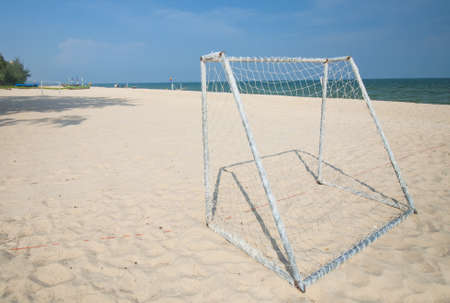 Soccer Goal on Thailand Beach Stock Photo - 16230246