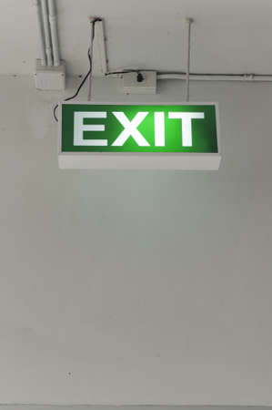 Emergency exit sign Stock Photo - 16358388