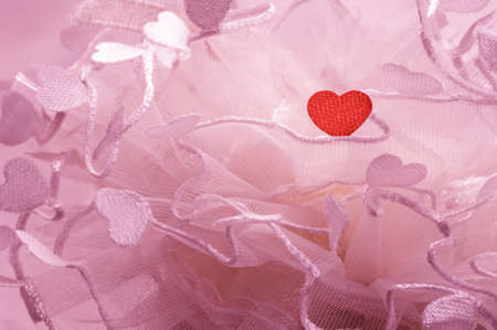 sweet heart lace decorated fabric photo
