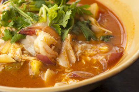 tom yum soup, thai food photo