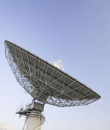 Satellite antenna with blue sky background Stock Photo - 17360286