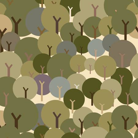 Seamless tree pattern with forest illustration Stock Vector - 17438701