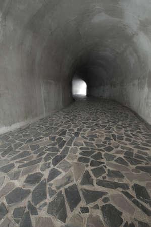 Stone floor tunnel photo