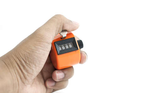 tally: Orange Hand tally counter, counting machine