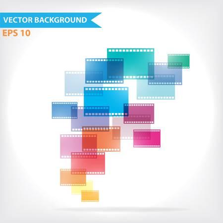 blue film: Colorful vector design for workflow layout, diagram, number options, web design, infographics