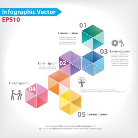 Colorful vector design for workflow layout, diagram, number options, web design, infographics Stock Vector - 21546652