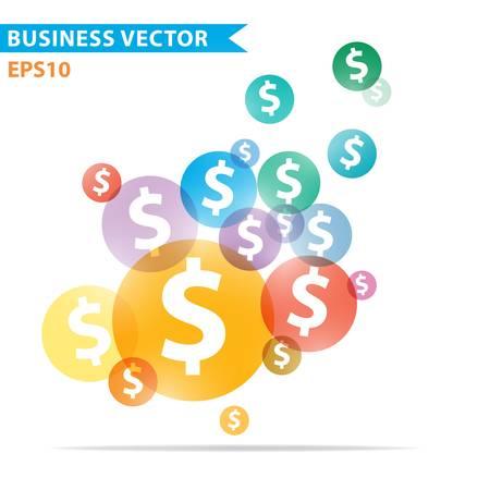 dollaro: Colorful disegno vettoriale per il layout di flusso di lavoro, diagramma, opzioni di numero, web design, infografica Vettoriali