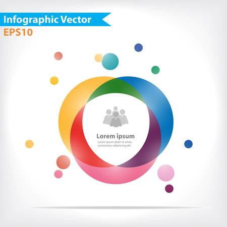 three orange: Colorful vector design for workflow layout, diagram, number options, web design, infographics