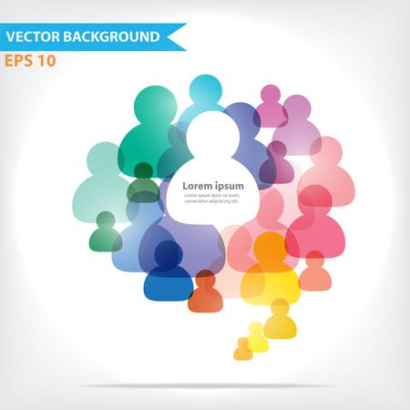 chatting: Colorful vector design for workflow layout, diagram, number options, web design, infographics