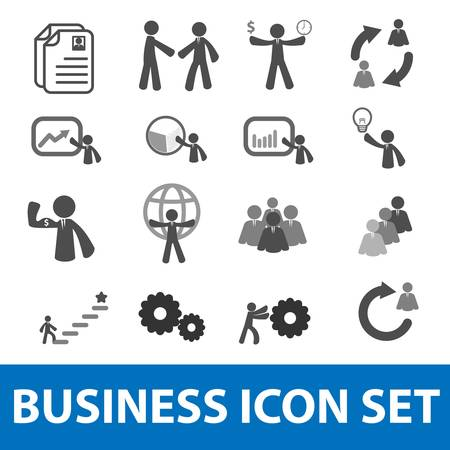 Businessman icon set Vector