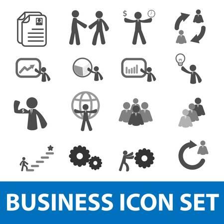 Hombre de negocios conjunto de iconos