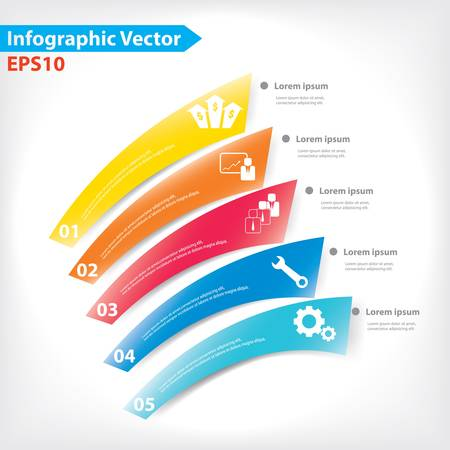 Colorful vector design for workflow layout, diagram, number options, web design, infographics Stock Vector - 21546759