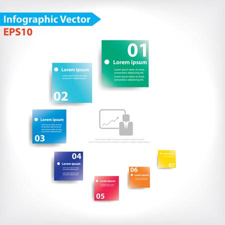 leaflets: Colorful vector design for workflow layout, diagram, number options, web design, infographics
