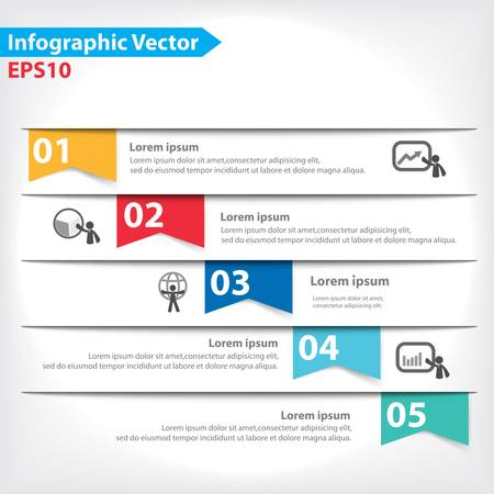 design process: Colorful vector design for workflow layout, diagram, number options, web design, infographics