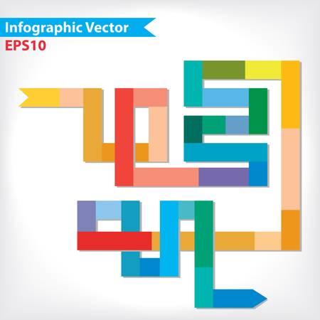 workflow: Dessin vectoriel color? pour la mise workflow, diagramme, les options num?riques, web design, infographie Illustration