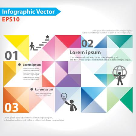 big icons: Colorful vector design for workflow layout, diagram, number options, web design, infographics