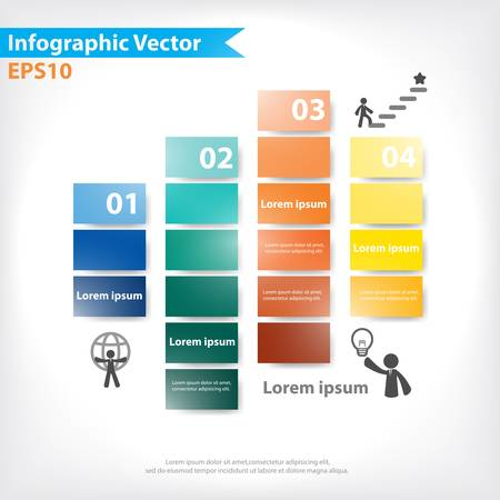 Colorful vector design for workflow layout, diagram, number options, web design, infographics Stock Vector - 21546794