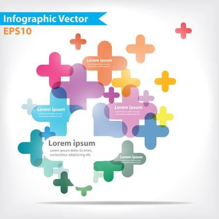 Diseño colorido del vector para el diseño de flujo de trabajo, diagrama, opciones numéricas, diseño web, infografía