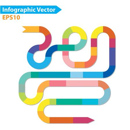 maze: Colorful vector design for workflow layout, diagram, number options, web design, infographics
