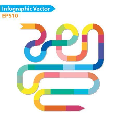 diagrama de procesos: Diseño colorido del vector para el diseño de flujo de trabajo, diagrama, opciones numéricas, diseño web, infografía