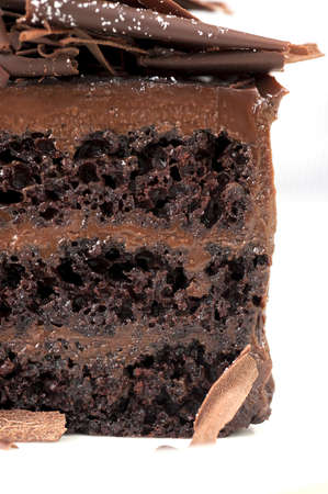 mouth watering: Closeup of chocolate cake