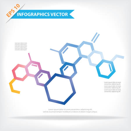 biotechnology: Colorful vector design for workflow layout, diagram, number options, web design, infographics, etc