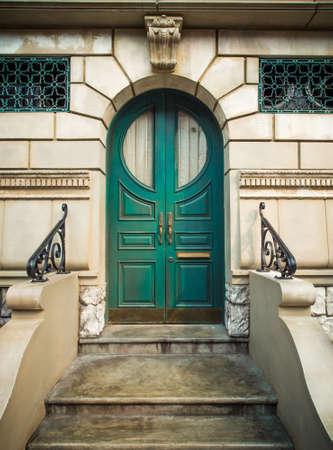 green door: A Beautiful green vintage  door