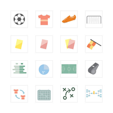 offside: Football-Soccer icon set Illustration