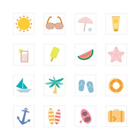 Summer icon set