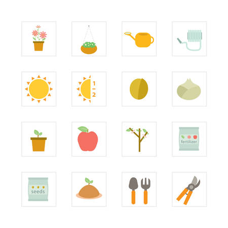 plant pot: Gardening icon set  Designed for illustration, infographics, web icon, report, presentation, template and more in your business Illustration