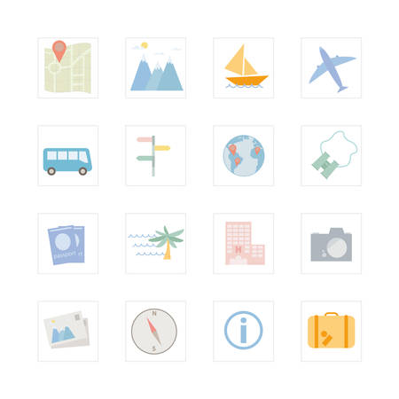 viewpoints: Traveling icon set  Designed for illustration, infographics, web icon, report, presentation, template and more in your business Illustration