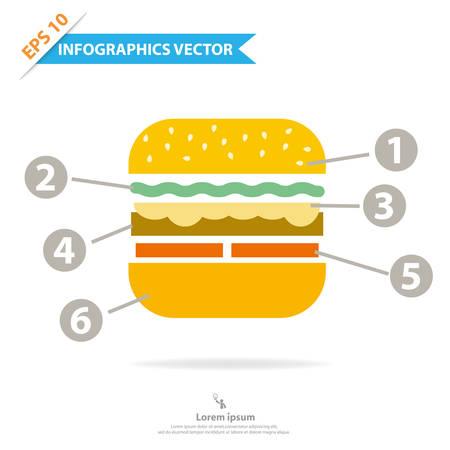 Colorful vector design for workflow layout, diagram, number options, web design, presentation template, infographics  Illustration