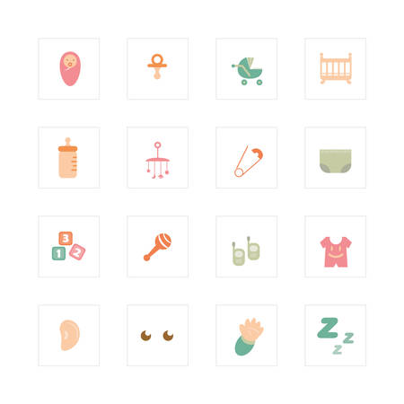 Baby infant icons  Designed  Vector