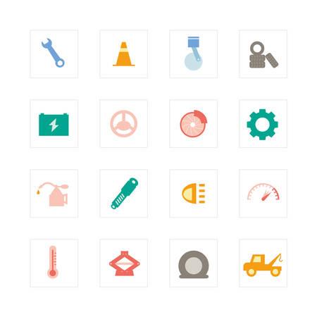 Car Services icon set   Illustration