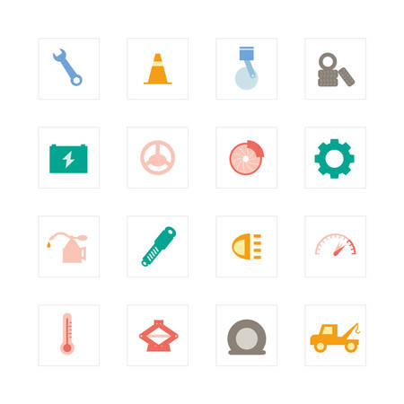 suspension: Car Services icon set   Illustration