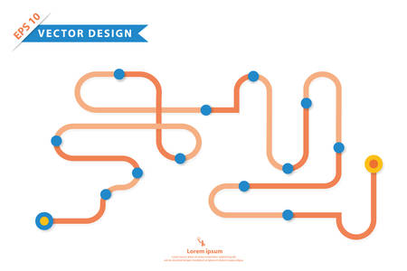 snake and ladder: Colorful vector design for workflow layout