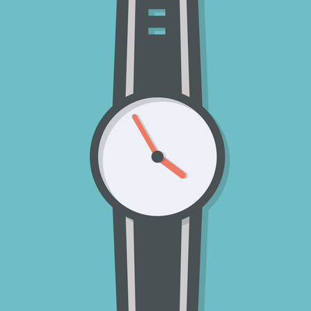 wrist watch: Hand watch vector, simple design