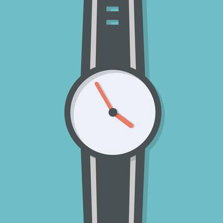 Hand watch vector, simple design